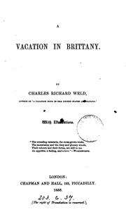 Cover of: A vacation in Brittany