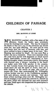 Cover of: Children of passage