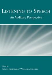 Cover of: Listening to speech |