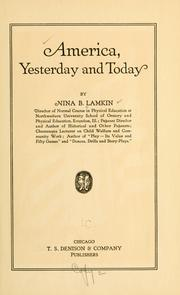 Cover of: America, yesterday and today