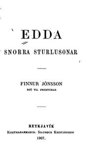 Cover of: Edda Snorra Sturlusonar |