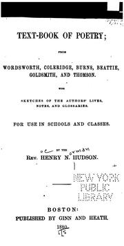 Text-book of poetry by Henry Norman Hudson