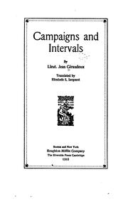 Cover of: Campaigns and intervals