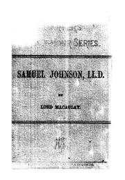 Cover of: Samuel Johnson, LL. D.