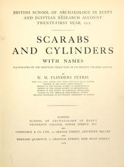 Cover of: Scarabs and cylinders with names: illustrated by the Egyptian collection in University College, London