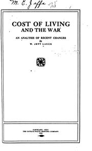 Cover of: Cost of living and the war | W. Jett Lauck