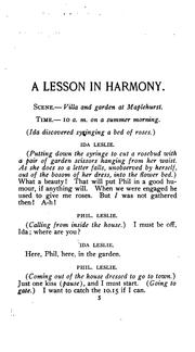 Cover of: A lesson in harmony