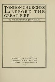 Cover of: London churches before the great fire | Wilberforce Jenkinson