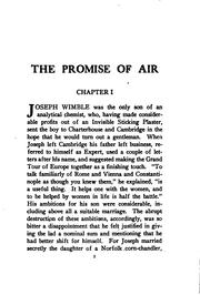 Cover of: The promise of air