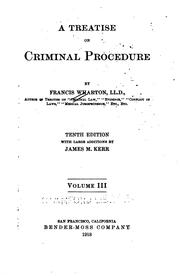 Cover of: A treatise on criminal procedure