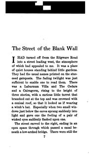 Cover of: street of the blank wall | Jerome Klapka Jerome