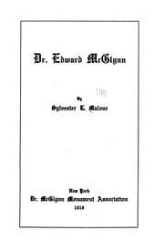 Cover of: Dr. Edward McGlynn | Sylvester L. Malone