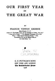 Cover of: Our first year in the great war