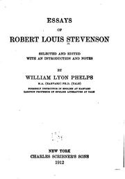 Cover of: Essays by Robert Louis Stevenson by Robert Louis Stevenson