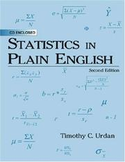 Cover of: Statistics in Plain English