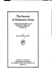 Cover of: The secrets of distinctive dress