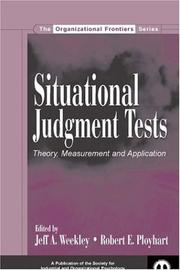Cover of: Situational Judgment Tests |