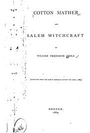 Cover of: Cotton Mather and Salem witchcraft