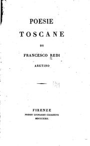 Cover of: Poesie toscane di Francesco Redi Aretino