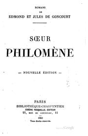 Cover of: Sœur Philomène
