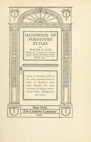 Cover of: Handbook of furniture styles