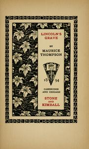 Cover of: Lincoln's grave
