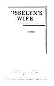 Cover of: Josselyn's wife