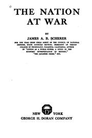 Cover of: The nation at war