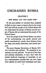 Cover of: Unchained Russia by Charles Edward Russell