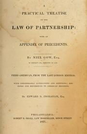 Cover of: practical treatise on the law of partnership | Niel Gow