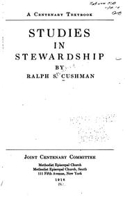 Cover of: Studies in stewardship | Ralph S. Cushman