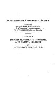 Cover of: Forced movements, tropisms, and animal conduct