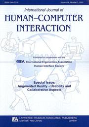 Cover of: Augmented Reality--usability and Collaborative Aspects