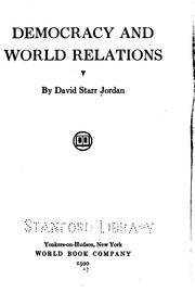 Cover of: Democracy and world relations
