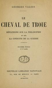 Cover of: Le cheval de Troie | Georges Valois