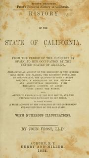 Cover of: History of the state of California. | Frost, John