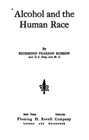 Cover of: Alcohol and the human race