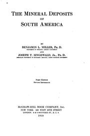 Cover of: The mineral deposits of South America