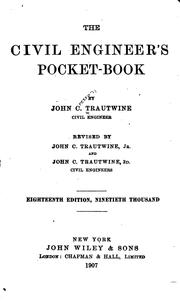The civil engineer's pocket-book by Trautwine, John C.