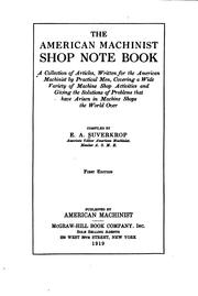 Cover of: American machinist shop note book | E. A. Suverkrop