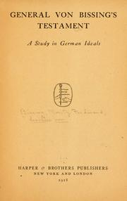 Cover of: General von Bissing