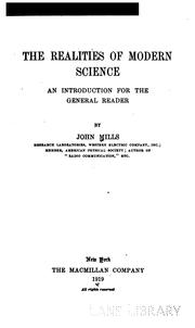 Cover of: realities of modern science | Mills, John