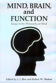 Cover of: Mind, Brain, and Function