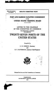 Cover of: Port and harbor facilities commission of the United States Shipping board. | United States. Shipping Board. Port and Harbor Facilities Commission.