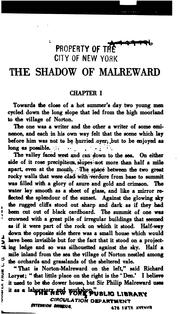 Cover of: The shadow of Malreward