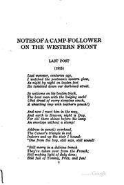 Notes of a camp-follower on the western front by E. W. Hornung
