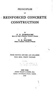 Cover of: Principles of reinforced concrete construction | F. E. Turneaure