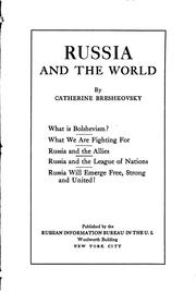 Cover of: Russia and the world