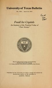Cover of: Fossil ice crystals | Johan August Udden