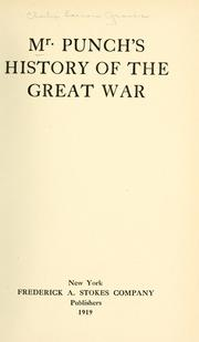 Cover of: Mr. Punch's history of the great war